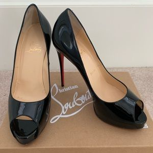 Authentic Louboutin classic peep toe heels